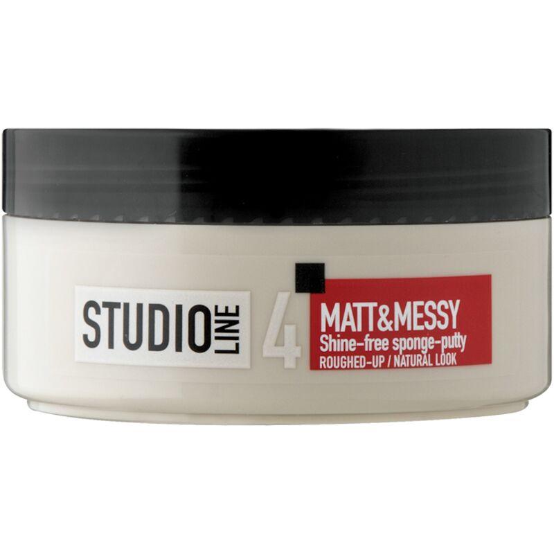 STUDIO LINE SHINE FREE MATT MESSY SPONGE PUTTY – 150ML
