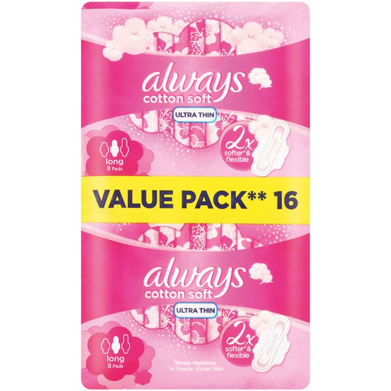 ALWAYS ULTRA SENSITIVE SUPER PLUS PADS WITH WINGS – 16S