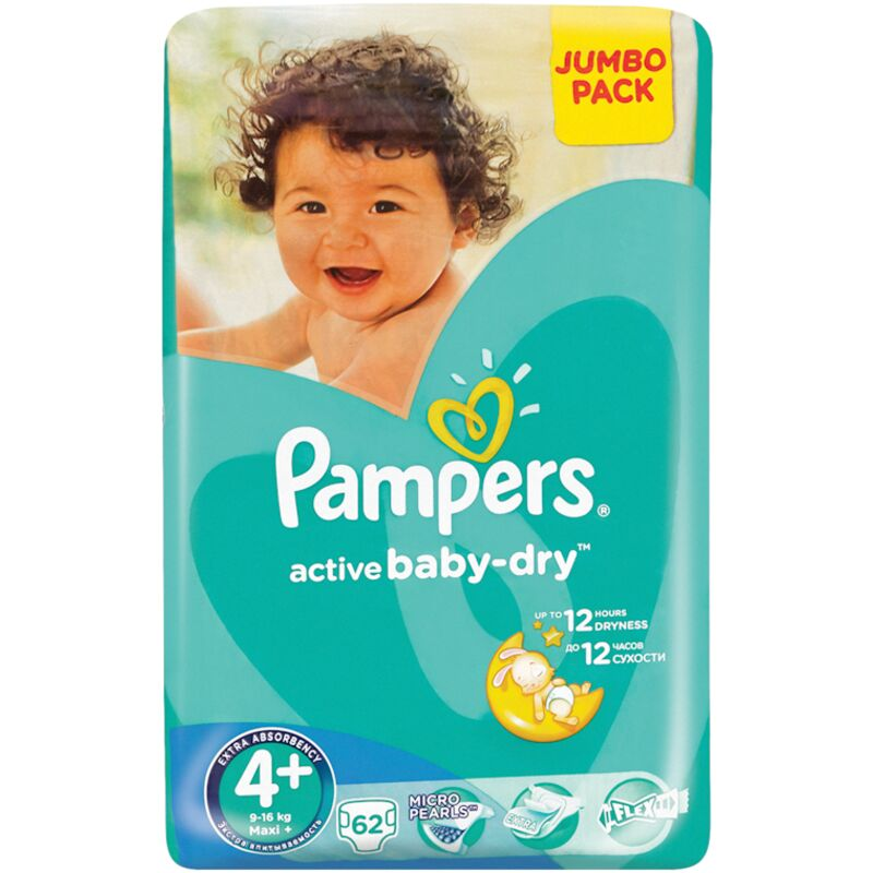 PAMPERS ACTIVE BABY MAXI PLUS JP – 62S