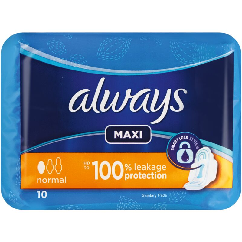 ALWAYS MAXI PLUS PADS WITH WINGS – 10S