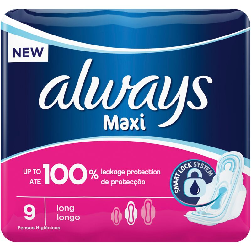 ALWAYS MAXI SUPER PLUS PADS WITH WINGS – 9S