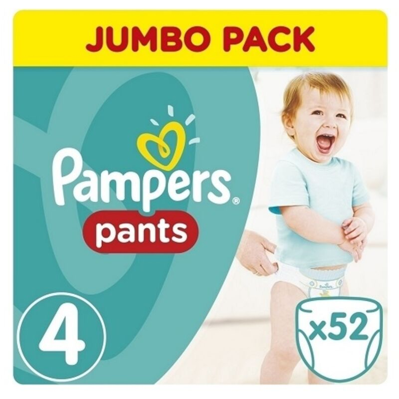 PAMPERS ACTIVE BABY PANTS MAXI JP – 52S