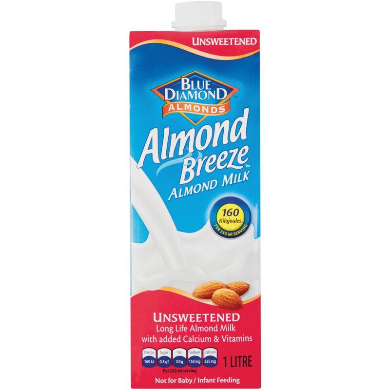 ALMOND BREEZE DRINK UNSWEETENED – 1L
