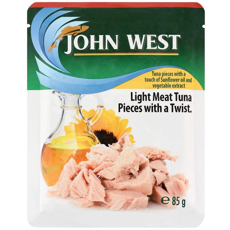 JOHN WEST TUNA POUCH SUNFLOWER OIL – 85G