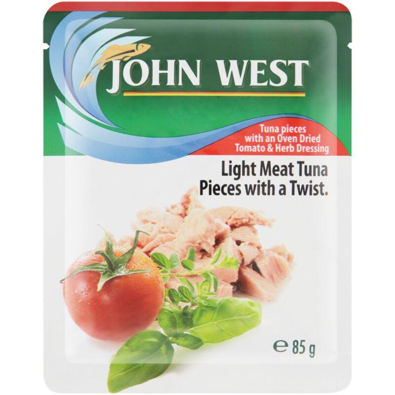 JOHN WEST TUNA POUCH TOMATO & HERB – 85G