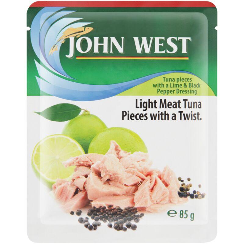 JOHN WEST TUNA POUCH LIME & PEPPER – 85G