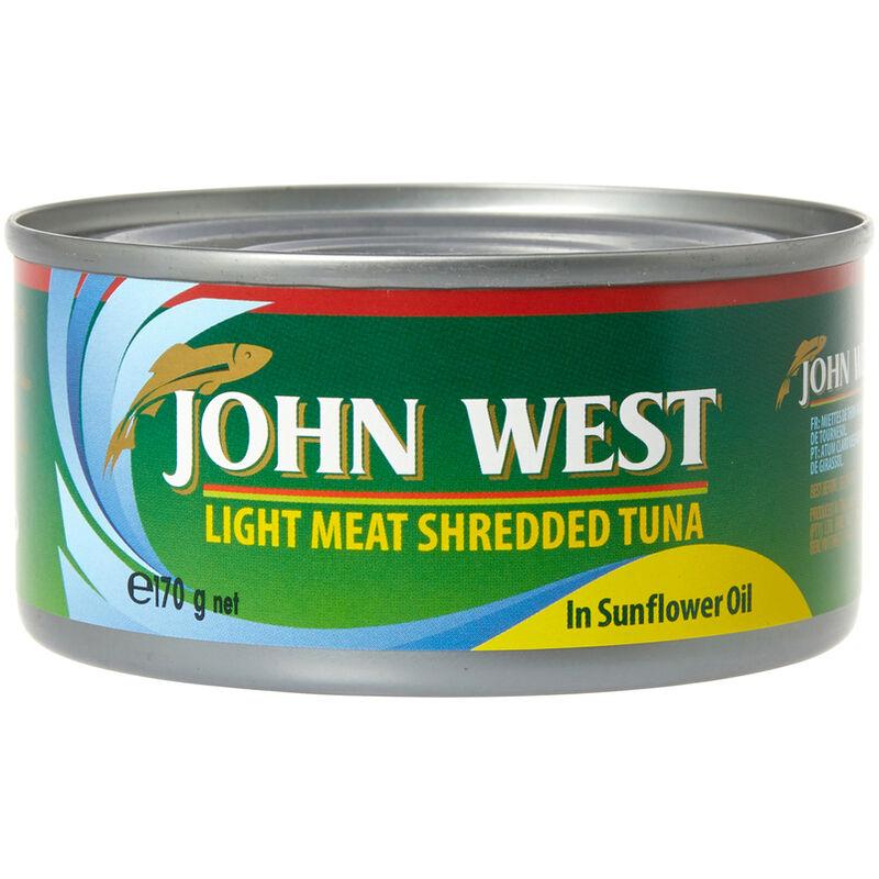 JOHN WEST TUNA SHREDDED IN OIL – 170G