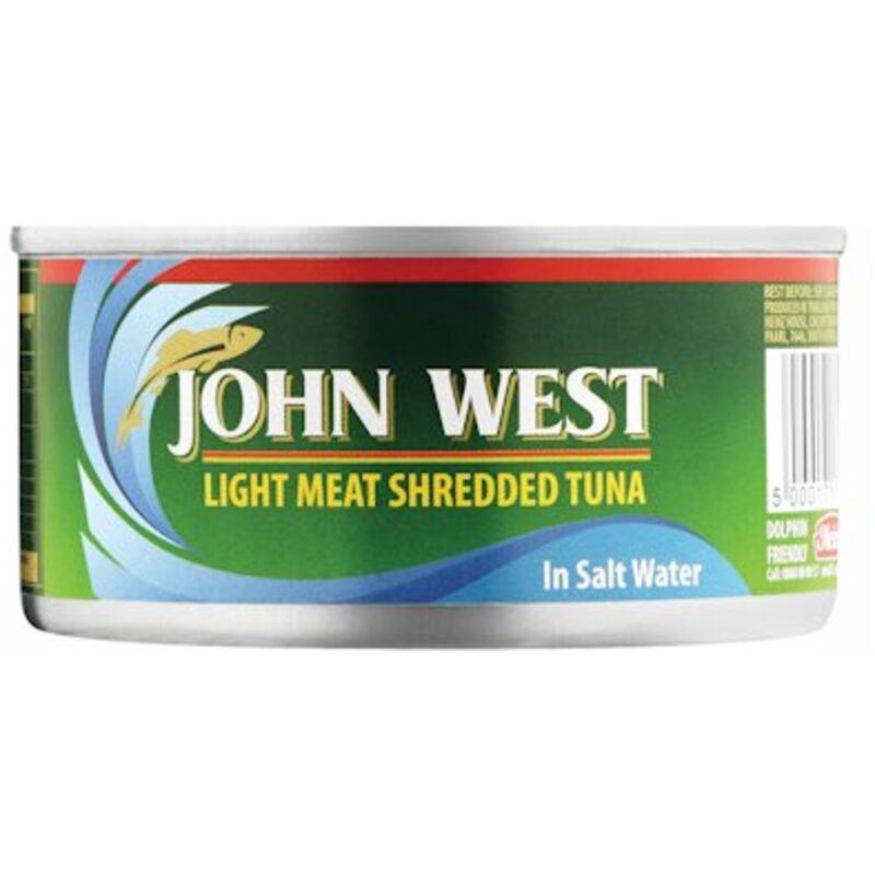 JOHN WEST TUNA SHREDDED IN BRINE – 170G