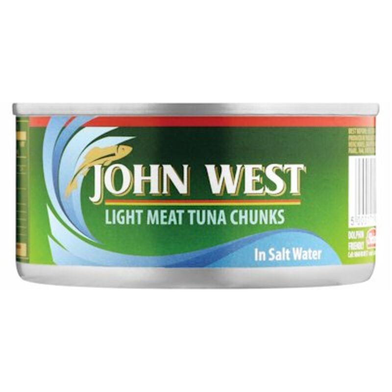 JOHN WEST TUNA CHUNKS IN BRINE – 170G
