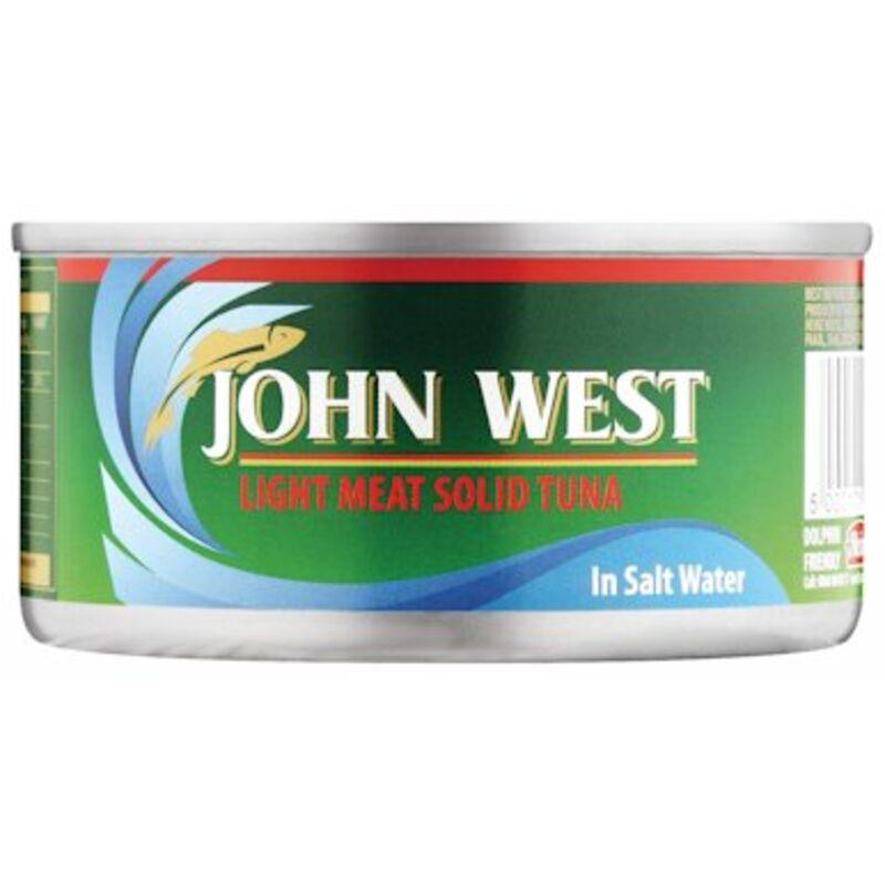JOHN WEST TUNA SOLID IN BRINE – 170G