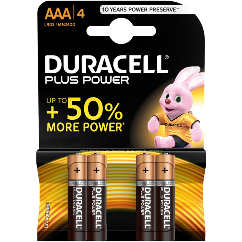 DURACELL PLUS POWER AAA – 4S