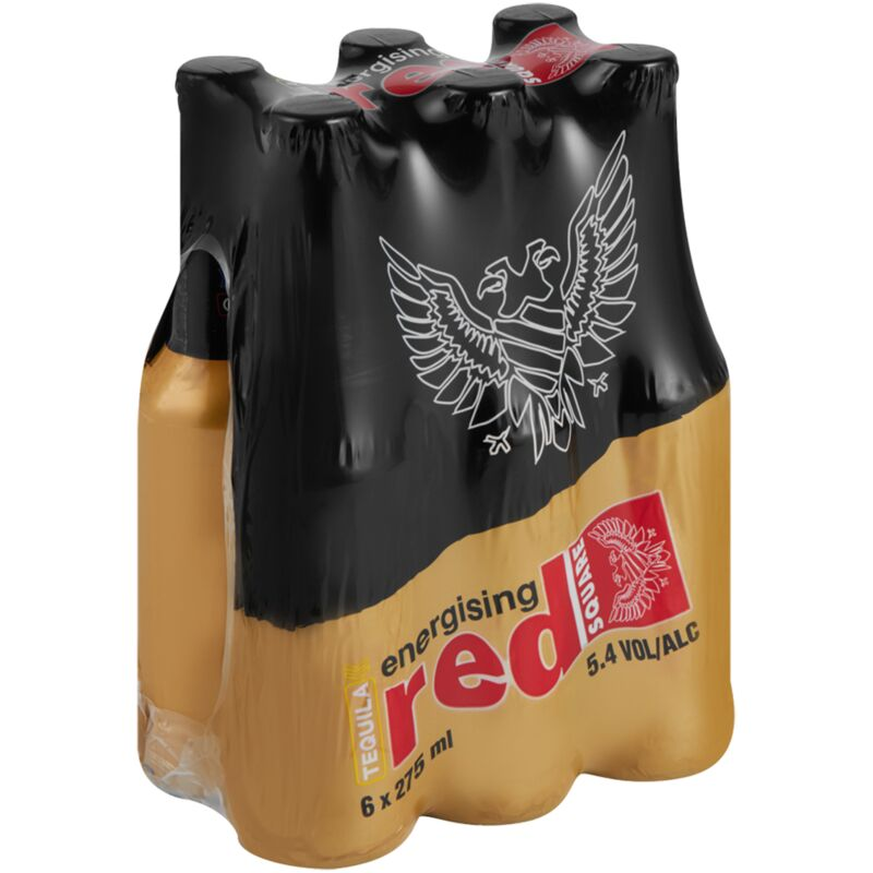 RED SQUARE ENERGISER TEQUILA – 275ML X 6