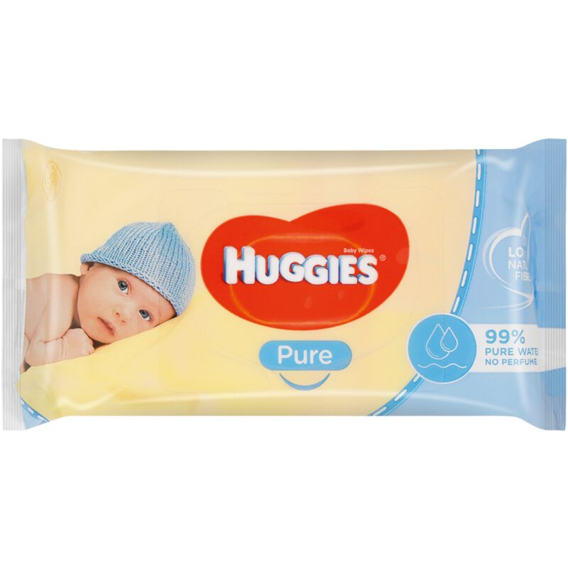 HUGGIES BABY WIPES PURE – 56S