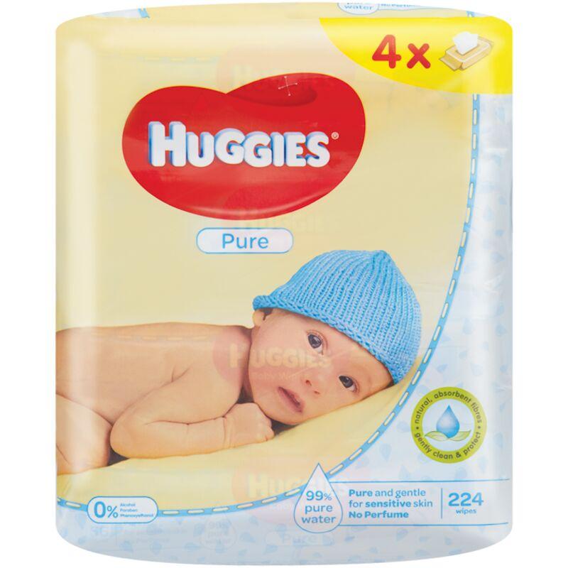 HUGGIES BABY WIPES PURE (56X4) – 224S