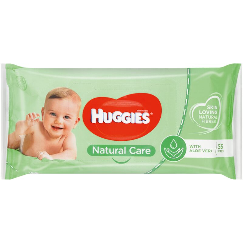 HUGGIES BABY WIPES NATURAL CARE – 56S