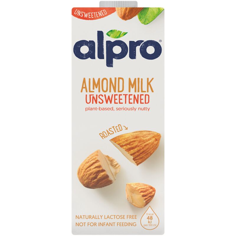 ALPRO ALMOND MILK UNSWEETENED – 1L