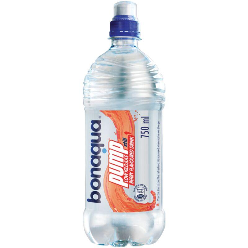 BONAQUA PUMP PREP STILL WATER BERRY – 750ML