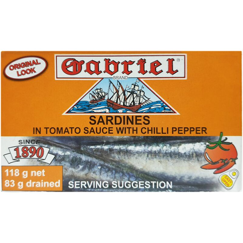 GABRIELS SARDINE IN LIGHT VEG OIL – 120G