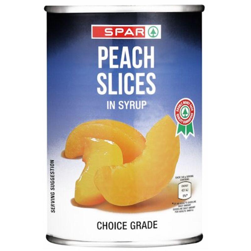 SPAR PEACH SLICES – 410G