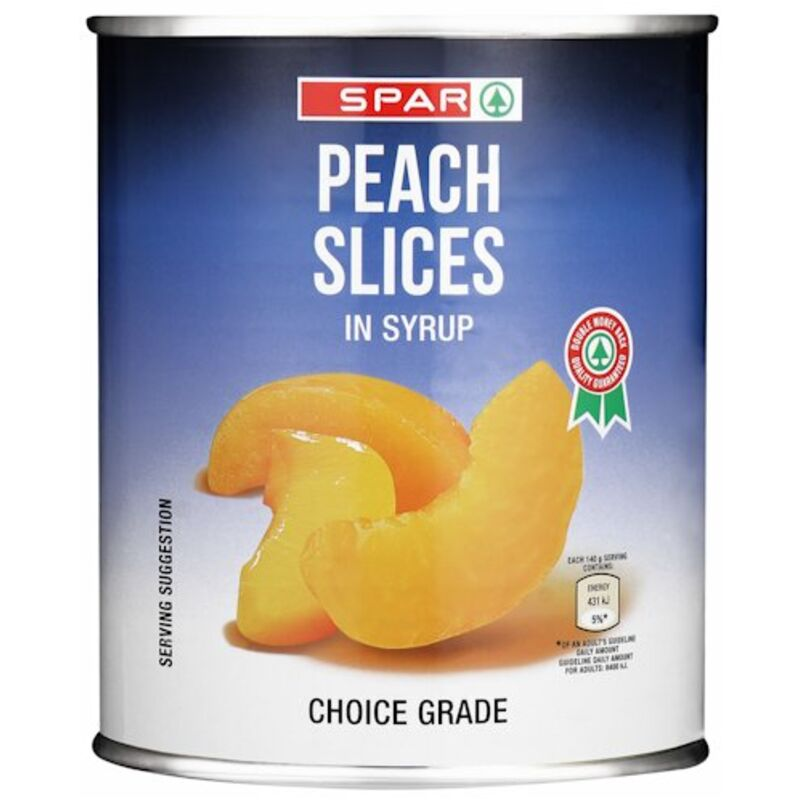SPAR PEACH SLICES – 825G