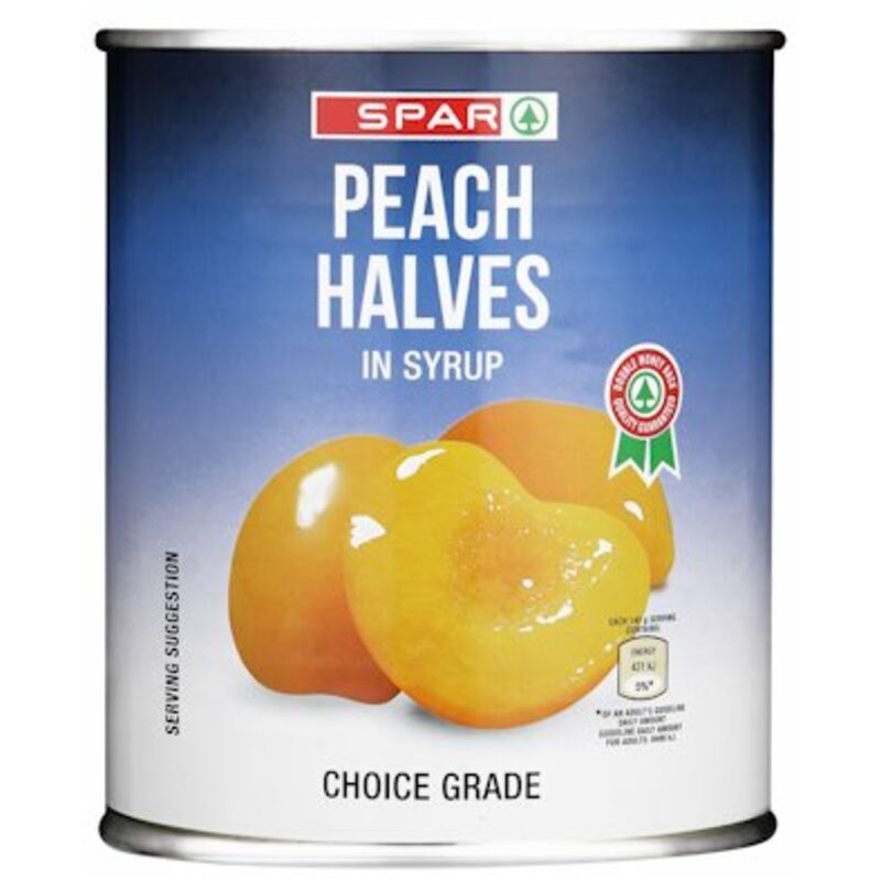 SPAR PEACH HALVES – 825G