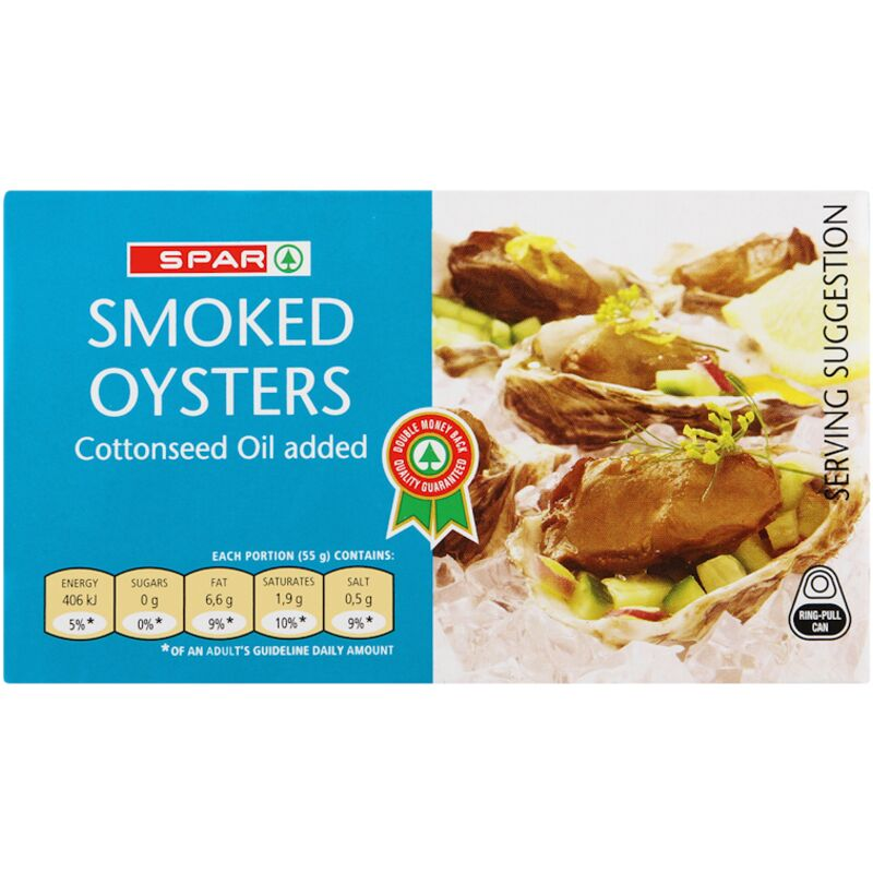 SPAR OYSTERS IN COTTON SEED OIL – 85G