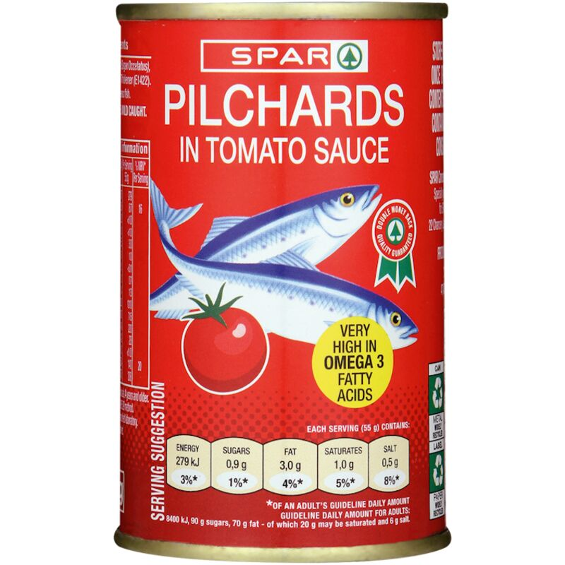 SPAR PILCHARDS TOMATO SAUCE – 155G