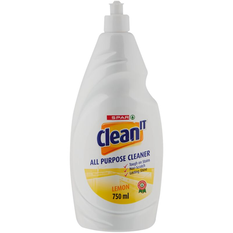 SPAR CLEAN IT ALL PURPOSE CLEANER LEMON BOOST – 750ML