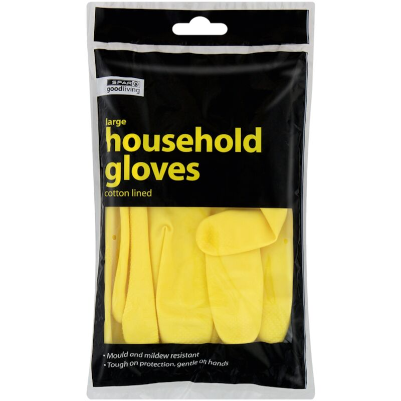 GOOD LIVING GLOVES RUBBER LARGE YELLOW – 1S