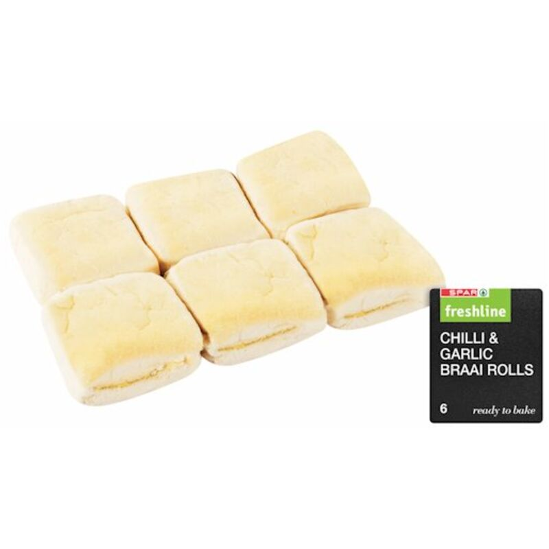 FRESHLINE BRAAI ROLLS CHILLI & GARLIC – 6S