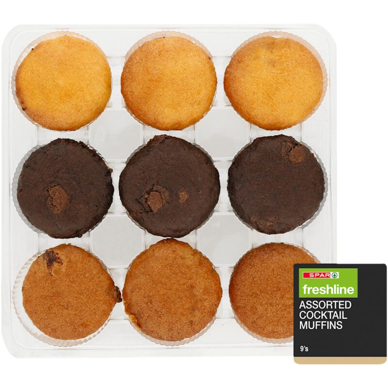 FRESHLINE ASSORTED COCKTAIL MUFFINS – 9S