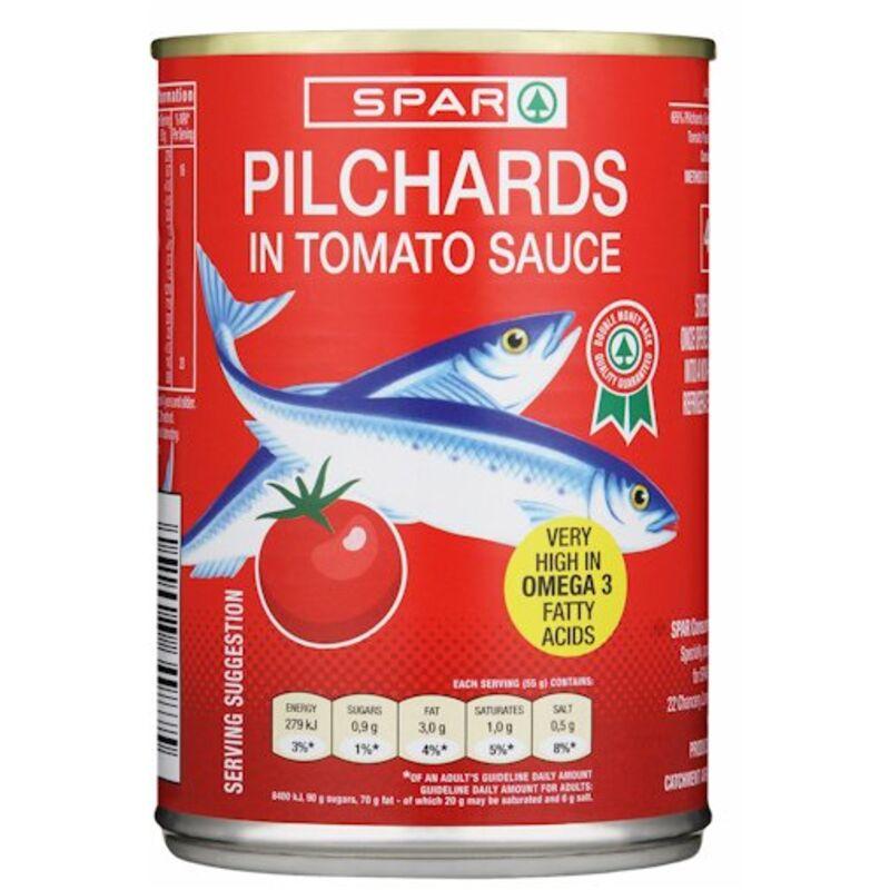SPAR PILCHARDS IN TOMATO – 400G