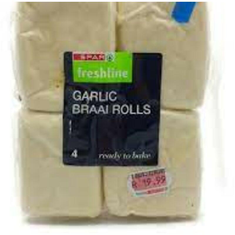 FRESHLINE BRAAI ROLLS GARLIC – 4S