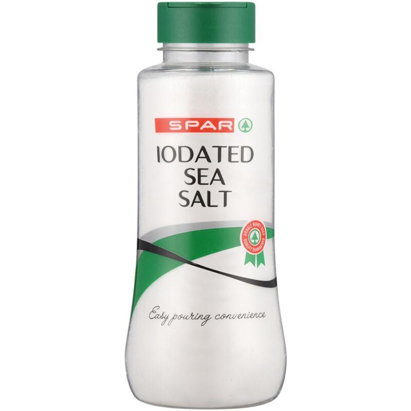 SPAR SEA SALT FLASK IODATED – 500G