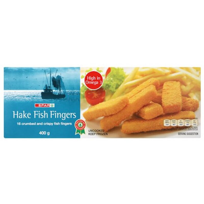 SPAR CRUMBED FISH FINGERS – 400G