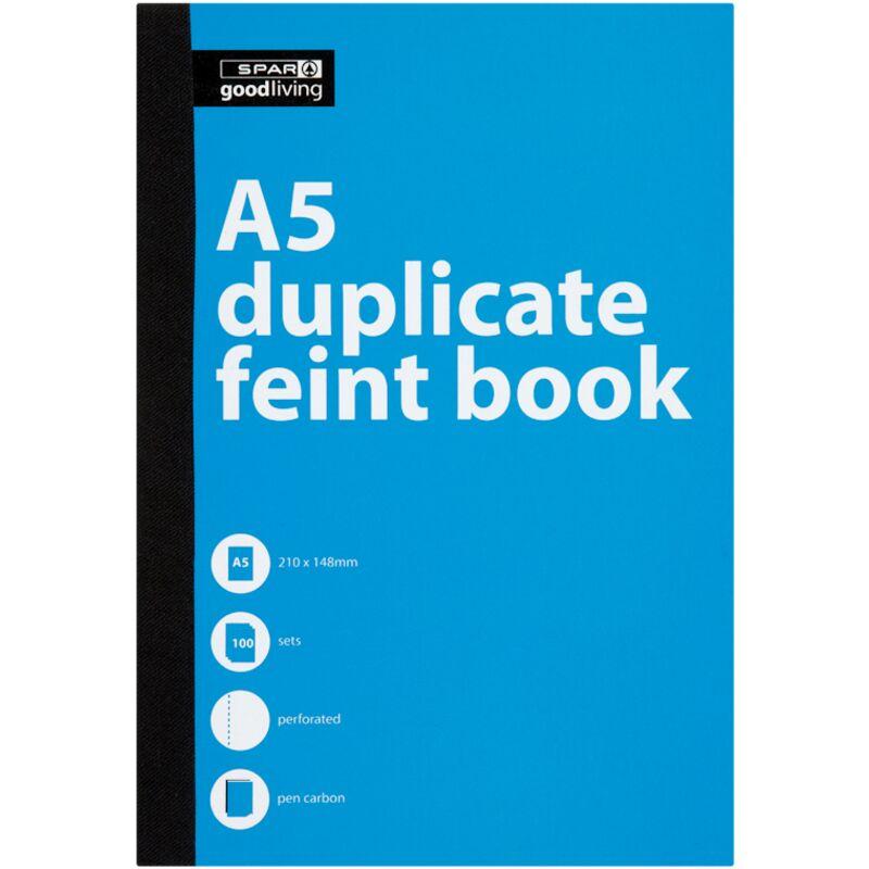 GOOD LIVING DUPLICATE BOOK A5 FEINT – 1S