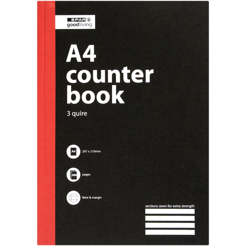 GOOD LIVING COUNTER BOOK 3 QUIRE A4 FM 288PG – 1S