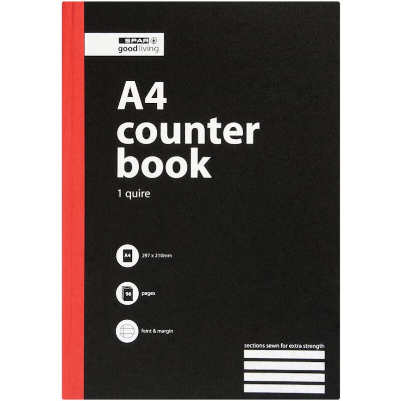 GOOD LIVING COUNTER BOOK 1 QUIRE A4 A4 96PG – 1S