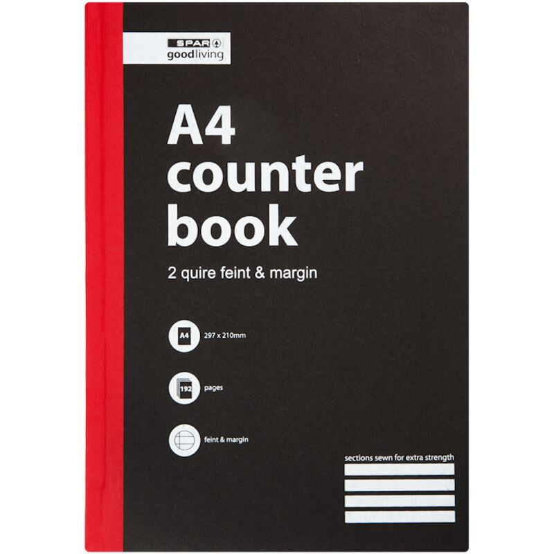 GOOD LIVING COUNTER BOOK 2 QUIRE A4 FM 192PG – 1S