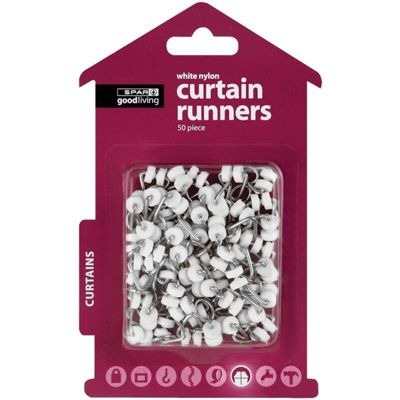 GOOD LIVING CURTAIN RUNNERS NYLON WHITE 50S – 50S