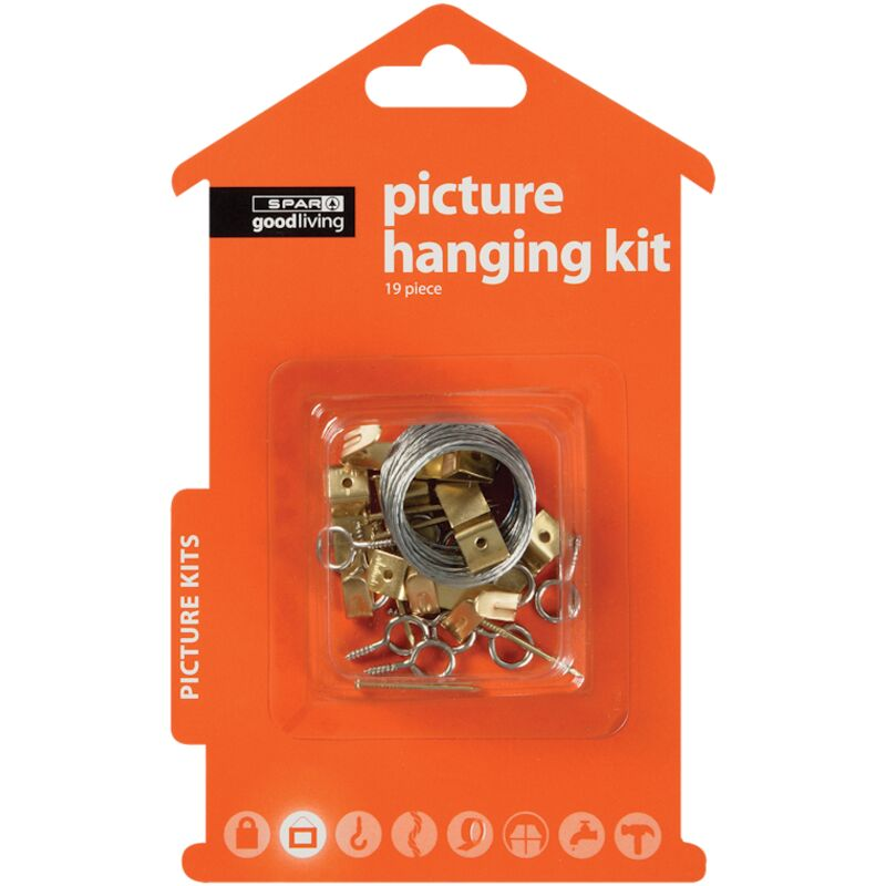 GOOD LIVING PICTURE HANGING KIT 19PIECE – 1S
