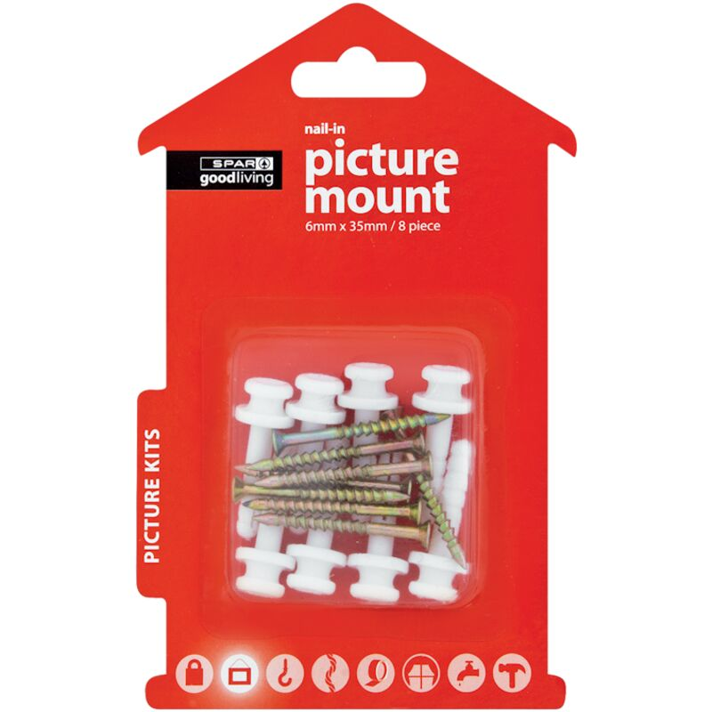 GOOD LIVING NAILIN PICTURE MOUNT 6MMX35MM 8S – 8S