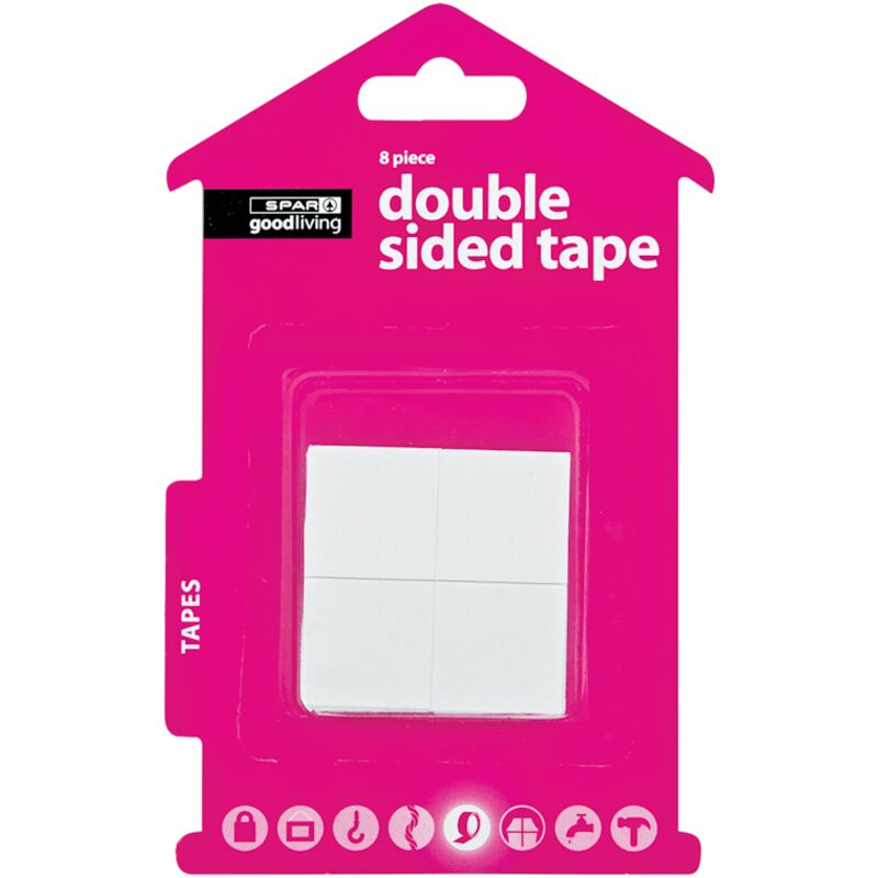 GOOD LIVING DOUBLE SIDED TAPE SQUARE 8S – 8S