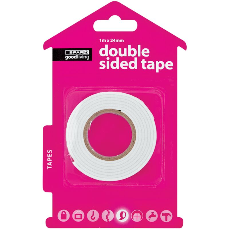 GOOD LIVING DOUBLE SIDED TAPE ROLL 1MTRX24MMX3MM – 1S