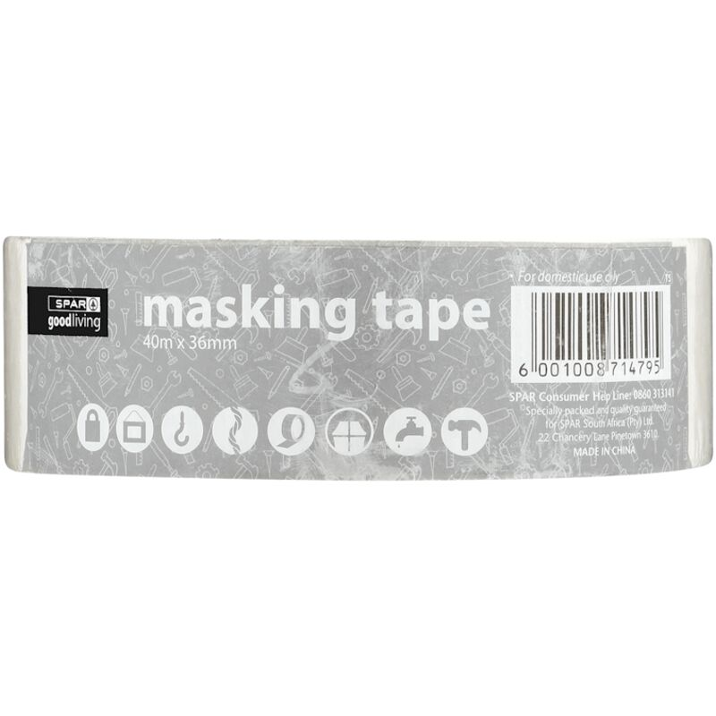 GOOD LIVING MASKING TAPE 36MMX40M – 1S