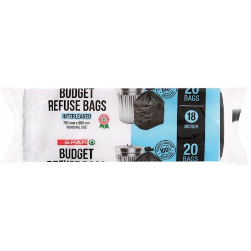 SPAR BUDGET REFUSE BAGS – 20S