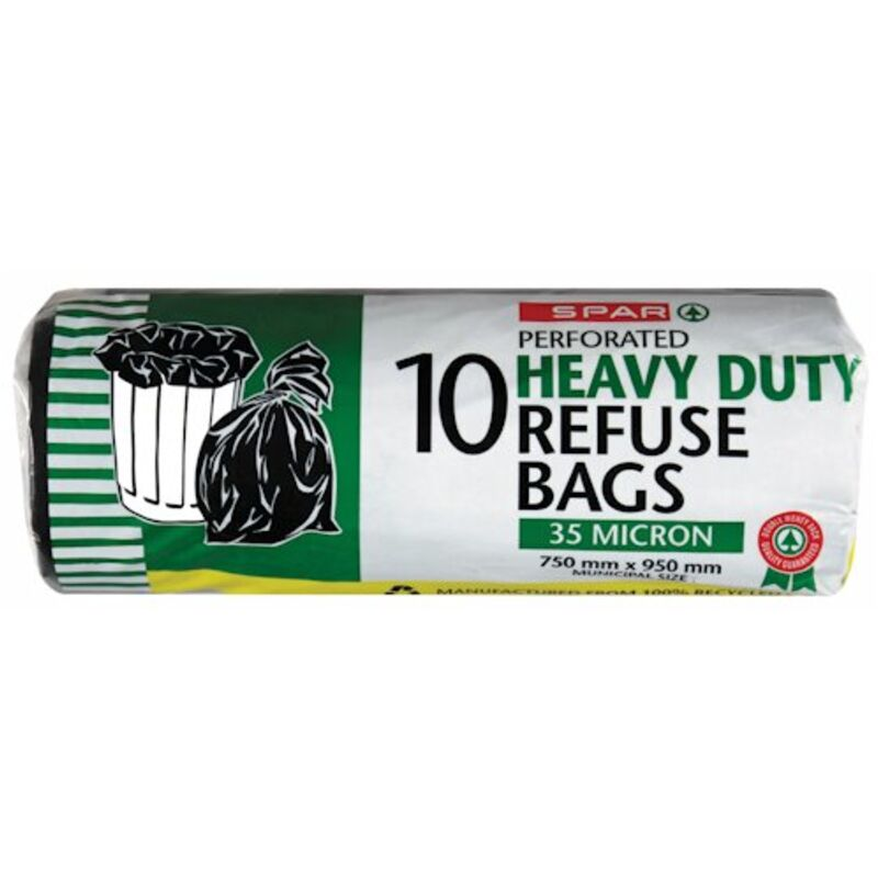 SPAR HEAVY DUTY REFUSE BAGS ON ROLL – 10S