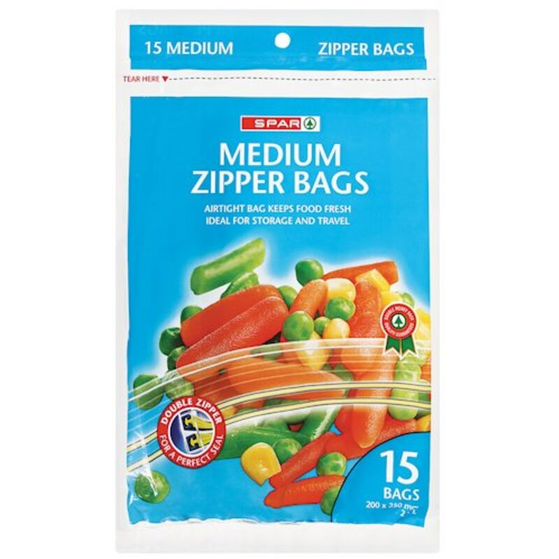 SPAR MEDIUM ZIPPER BAG – 15S
