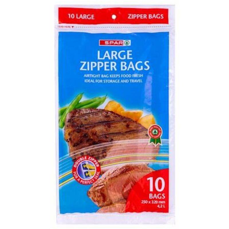 SPAR LARGE ZIPPER BAGS – 10S