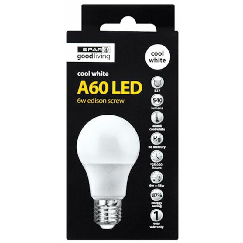 GOOD LIVING LED GLOBE A60 ES COOL WHITE 65W – 1S